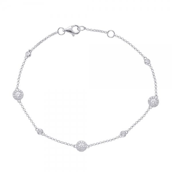White Gold Diamond Bracelet B4422wg