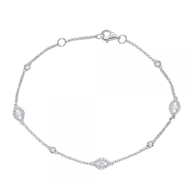 White Gold Diamond Bracelet B4424wg