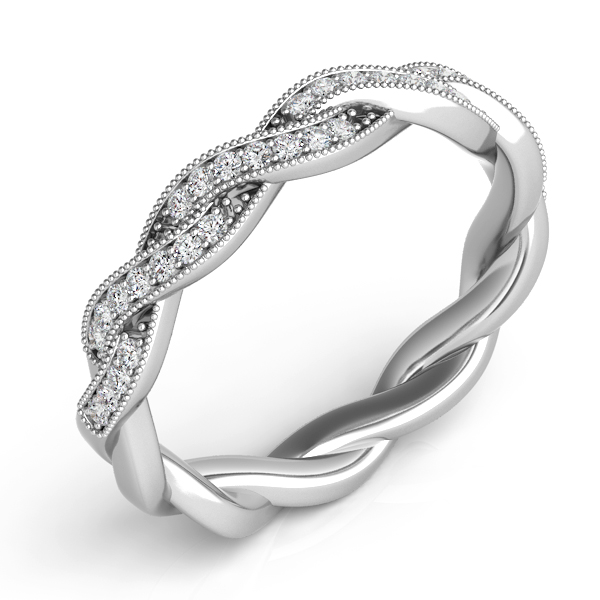 White Gold Matching Band by S. Kashi & Sons
