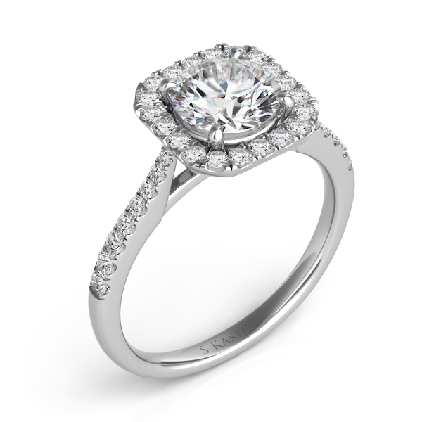 White Gold Halo Engagement Ring En7400 1wg Engagement Rings From