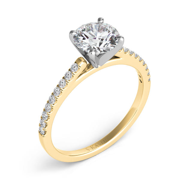 Yellow Gold Engagement Ring by S. Kashi & Sons