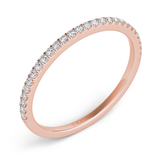 Rose Gold Matching Band by S. Kashi
