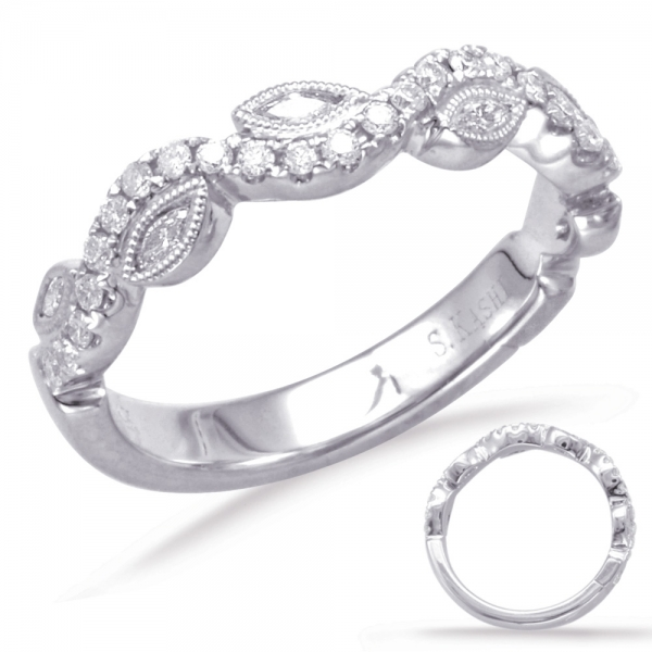 White Gold Matching Band by S. Kashi