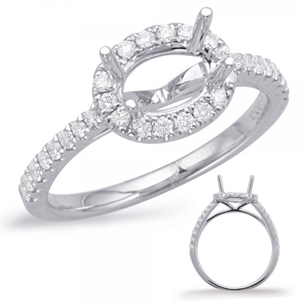 White Gold Halo Engagement Ring En7990 7x5mwg Engagement Rings
