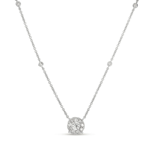 Gold Diamond Necklace N1208wg 14kw