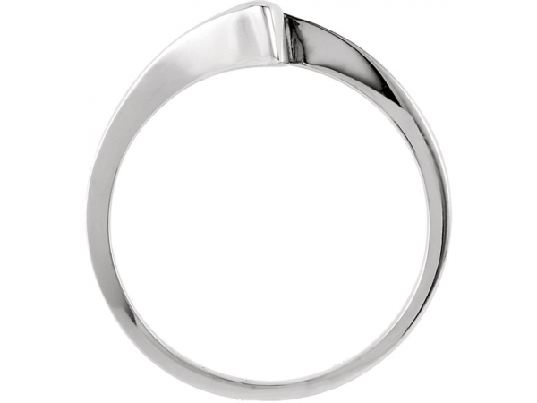 Wedding Bands - 6-Prong Solitaire Engagement Ring Matching Band - image 2