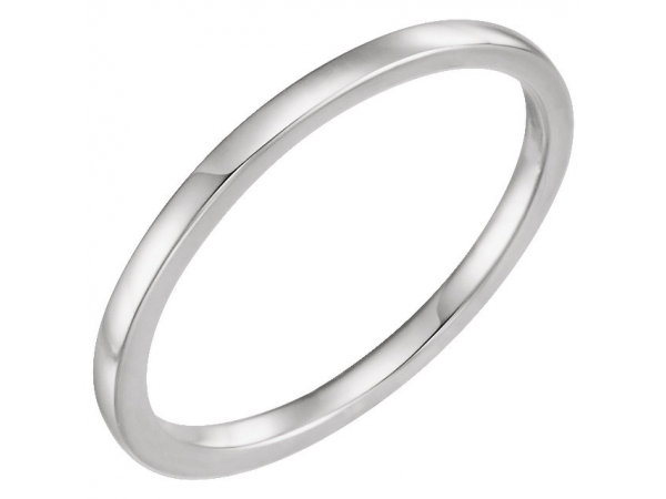 Her Bands - 4-Prong Solitaire Engagement Ring Matching Band