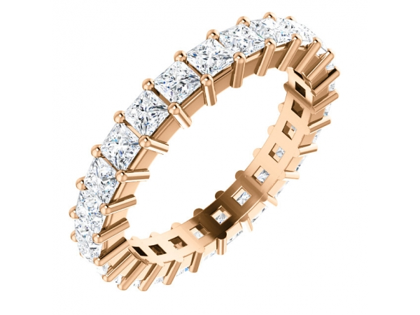 Anniversary Rings - 14K Rose Gold Anniversary Band