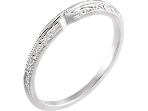 6-Prong Solitaire Engagement Ring Matching Band by DD Classics