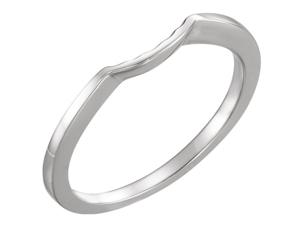 Her Bands - Three-Stone Engagement Ring Matching Band