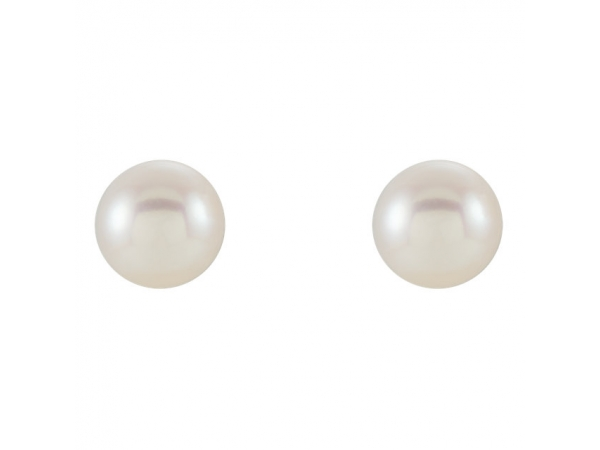Gemstone Earrings - Pearl Earrings - image 2