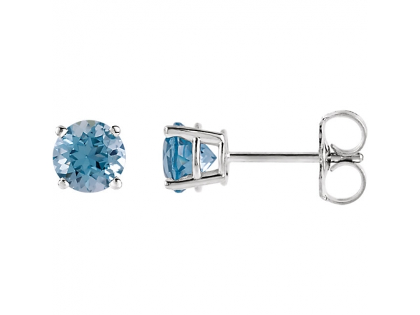 Genuine Aquamarine Earrings by Stuller