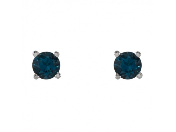 Gemstone Earrings - Round 4-Prong Lightweight Wire Basket Earrings - image 2