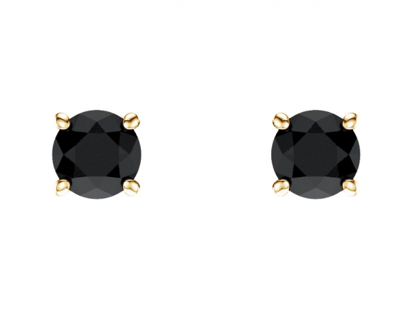 Gemstone Earrings - Genuine Onyx Earrings - image #2