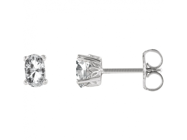 Earrings - Oval 4-Prong Scroll Setting® Earrings