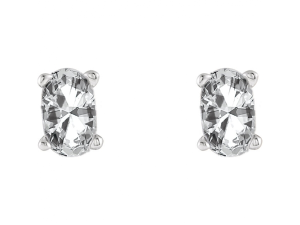 Earrings - Oval 4-Prong Scroll Setting® Earrings - image #2