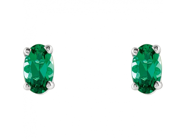 Gemstone Earrings - Emerald Earrings - image #2
