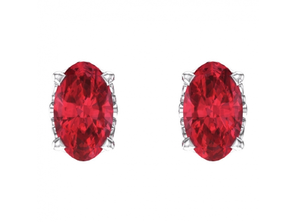 Gemstone Earrings - Ruby Earrings - image #2