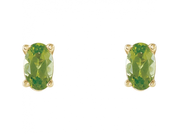 Gemstone Earrings - Peridot Earrings - image 2