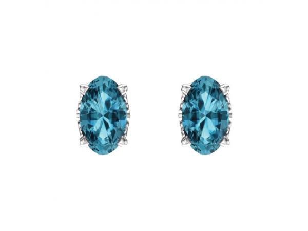 Earrings Blue Zircon Image 2