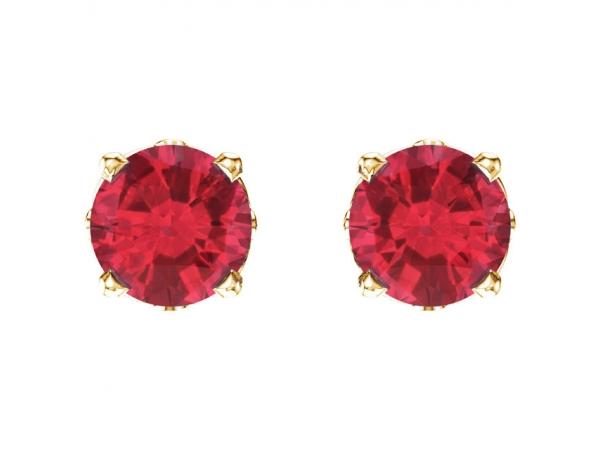 Earrings Ruby Image 2