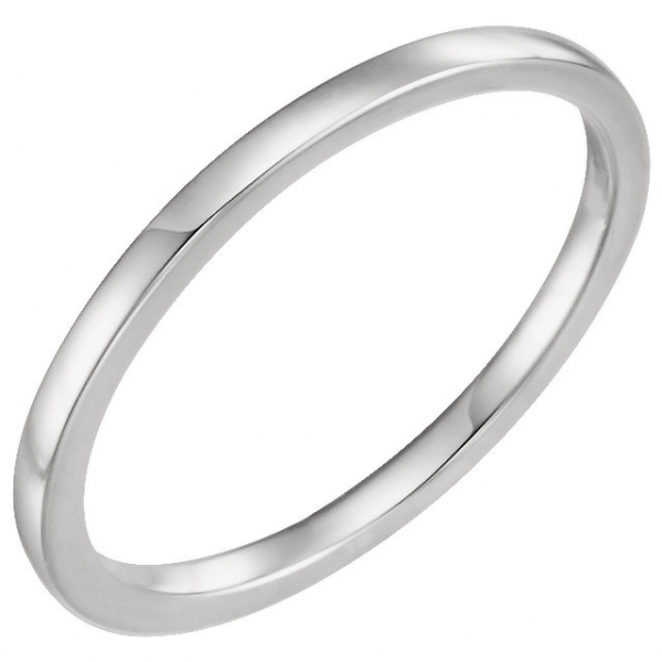 Wedding Bands - 4-Prong Solitaire Engagement Ring Matching Band