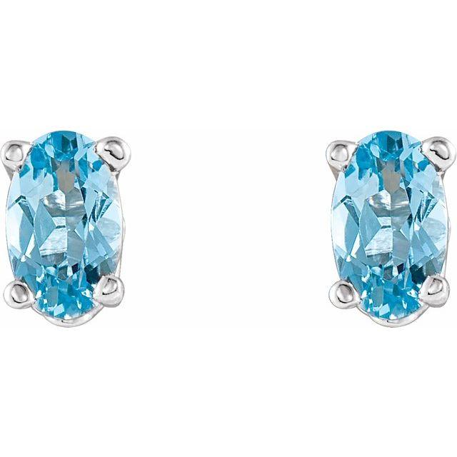 Gemstone Earrings Aquamarine Image 2