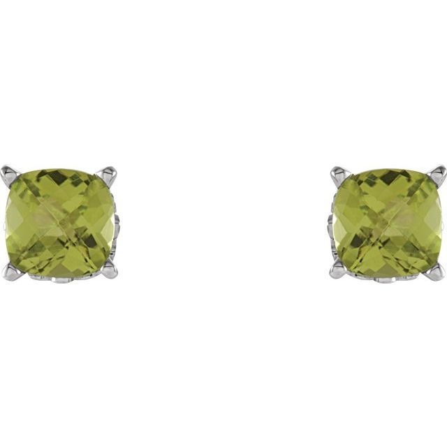 Gemstone Earrings - Cushion 4-Prong Scroll Setting® Earrings  - image 2