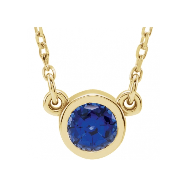 Gemstone Pendants & Necklaces - Created Sapphire Necklace