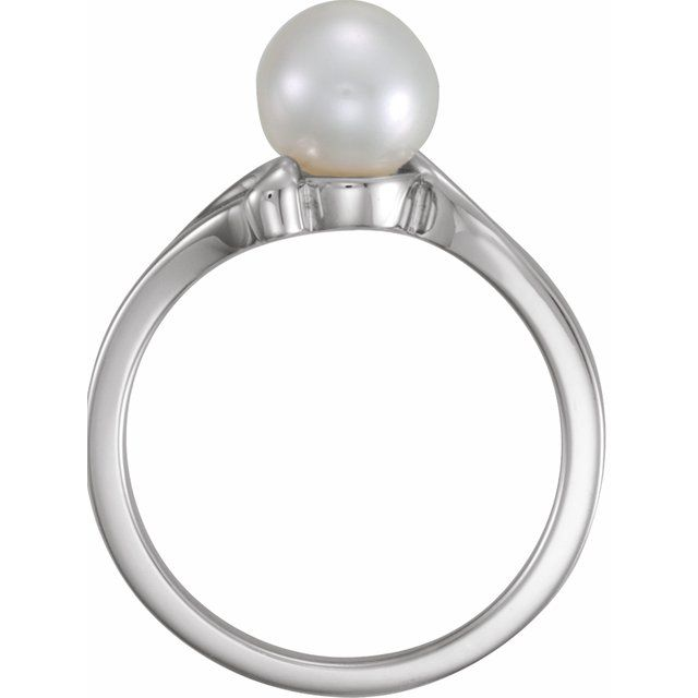 Gemstone Rings - Solitaire Ring for Pearl - image #2
