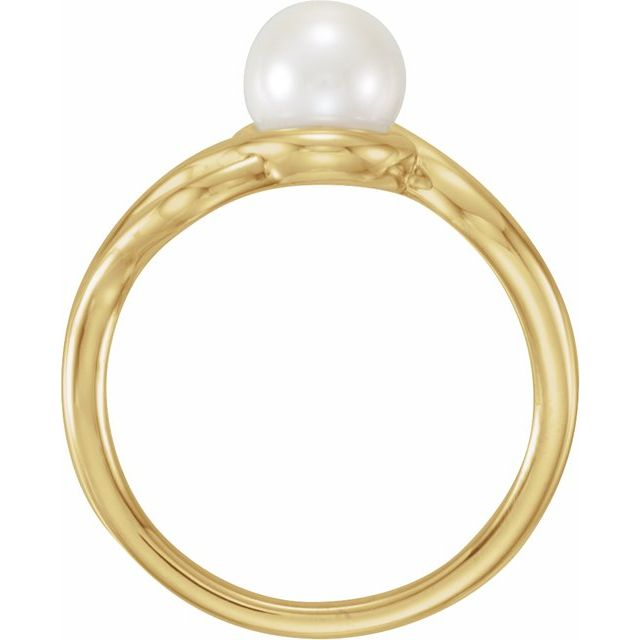 Gemstone Rings - Freeform Pearl Ring - image #2