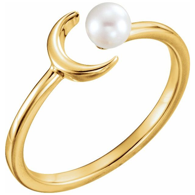 Crescent Pearl Ring  by Stuller