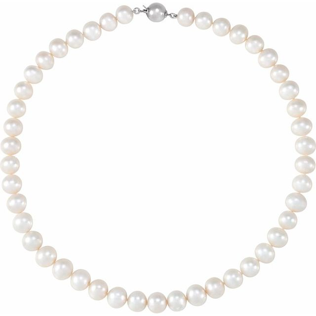 Gemstone Necklaces - Pearl Necklace - image #2