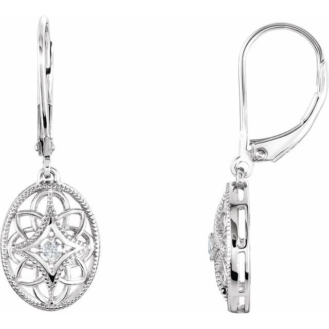 Granulated Filigree Lever Back Earrings by Stuller
