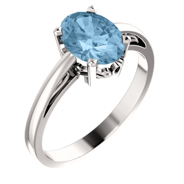 Gemstone Rings - Solitaire Scroll Setting® Ring