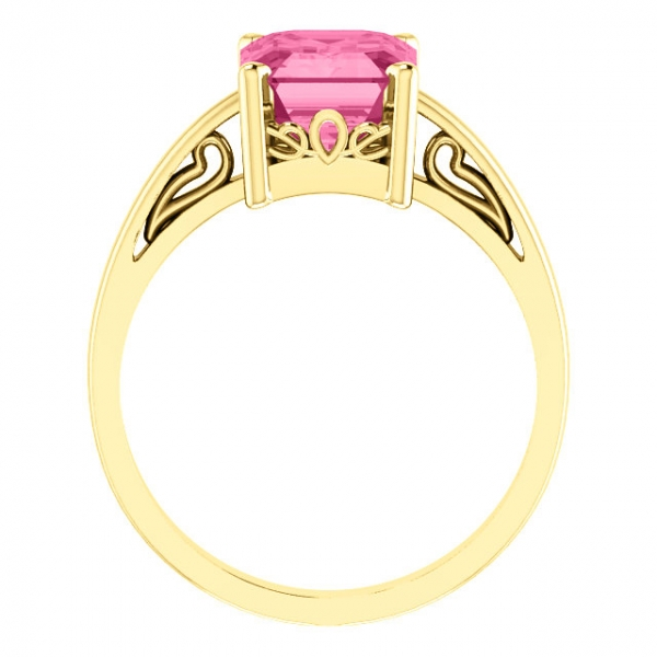 Gemstone Rings - Scroll Setting® Ring - image 2