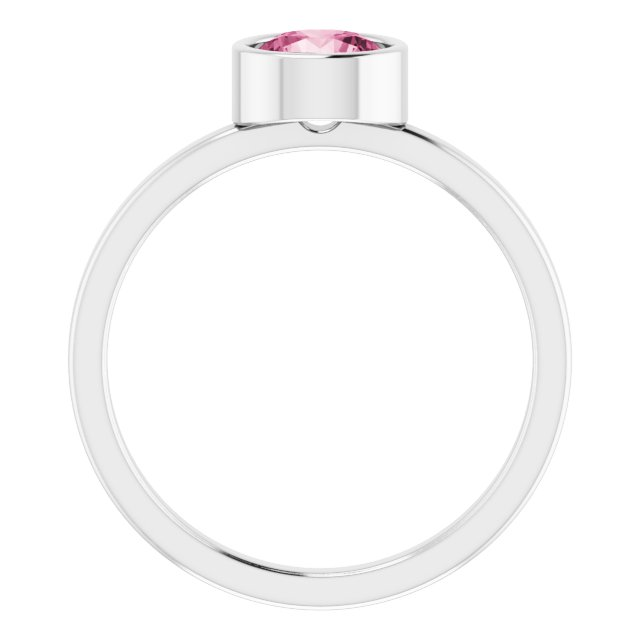 Gemstone Rings - Bezel Set Solitaire Ring - image #2
