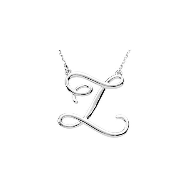 Script Initial Necklace by Stuller