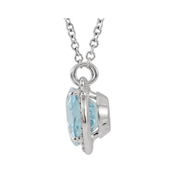 Gemstone Necklaces - Halo-Style Necklace - image 2