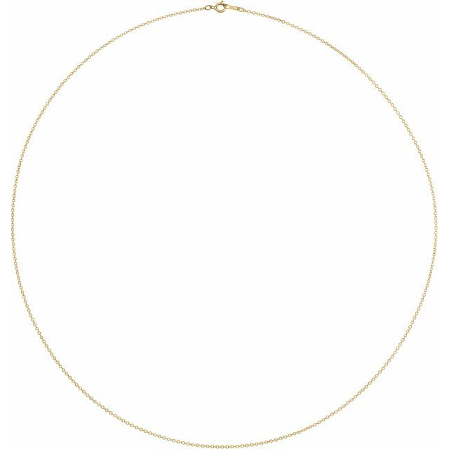 Necklaces - 1mm Solid Cable Chain  - image #2
