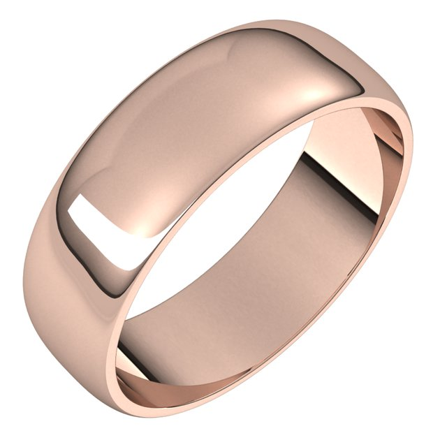 Ladies Wedding Bands - 6mm Wedding Band - image #2
