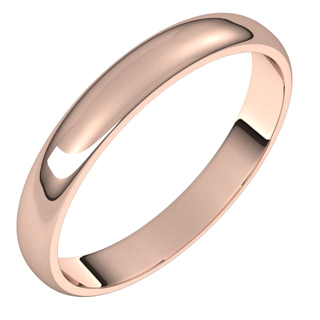 Ladies Bands - Half Round Light Bands