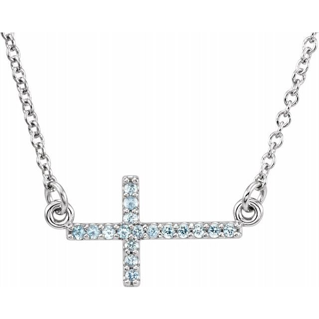Necklaces - Sideways Cross Necklace