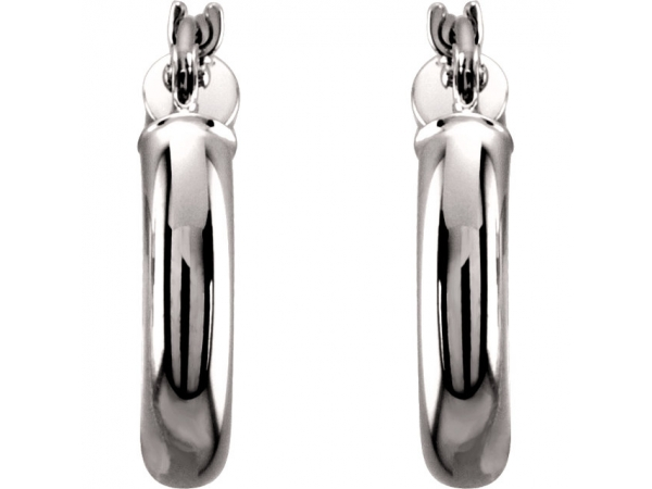 Earrings - 14K White Gold Earrings - image #2