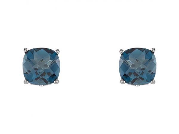 Earrings - Cushion 4-Prong Scroll Setting® Earrings  - image 2
