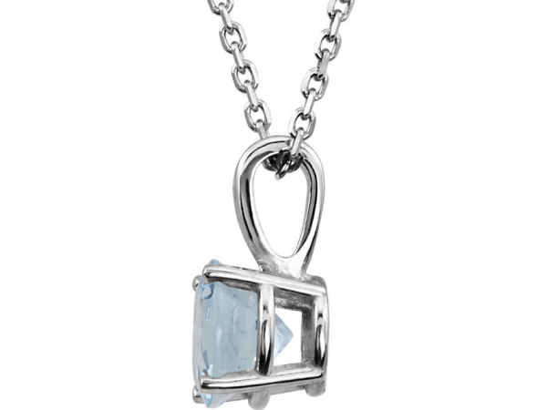 Necklaces - Youth 4-Prong Solitaire  Necklace  - image #2