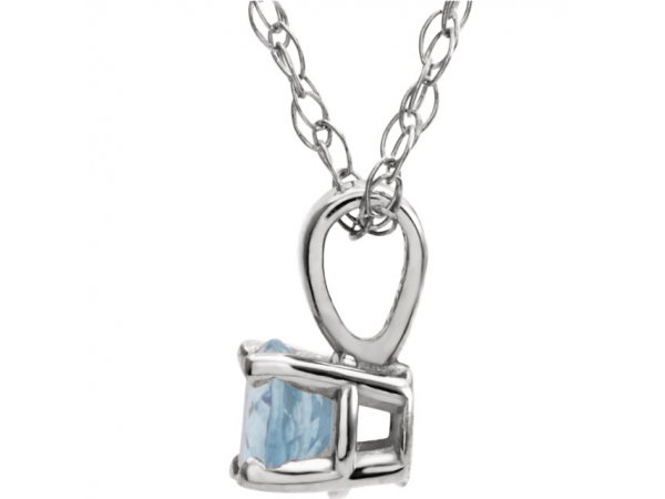 Diamond Necklaces - Youth 4-Prong Solitaire  Necklace  - image 2