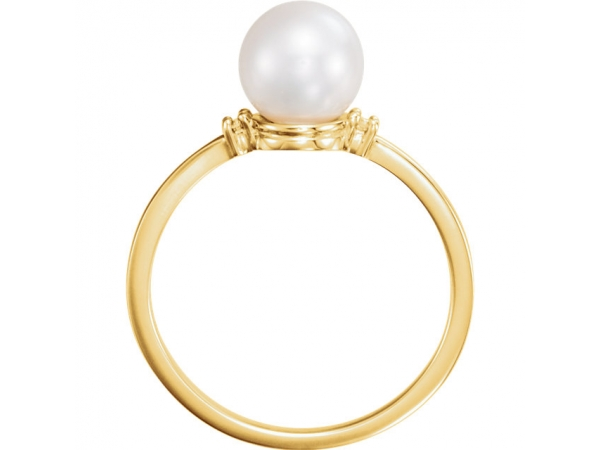 Fashion Rings - Accented Ring for Pearl - image #2