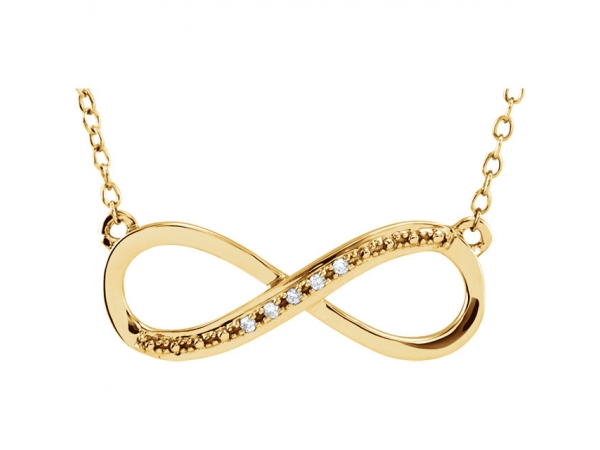 Infinity-Inspired Necklace by Stuller