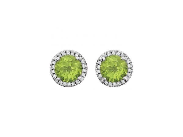 Earrings Genuine Peridot Image 2